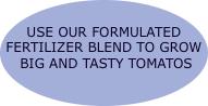 USE OUR FORMULATED  FERTILIZER BLEND TO GROW   BIG AND TASTY T